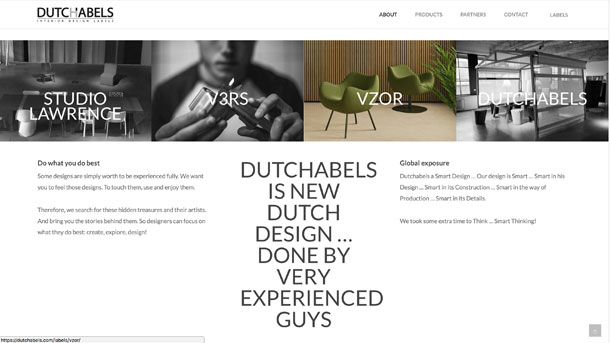 digibastards - webdevelopment - portfolio - dutchabels