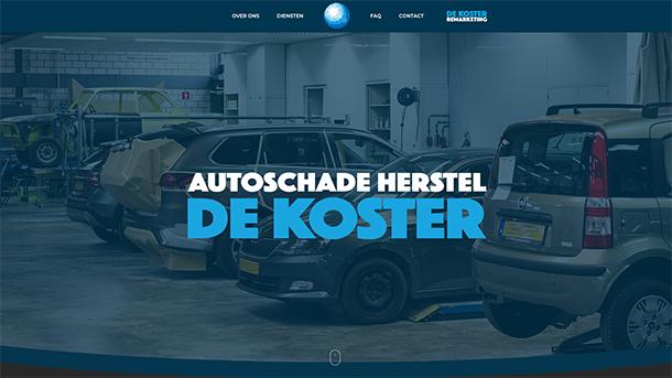 digibastards - webdevelopment - portfolio - Autoschadeherstel - De Koster